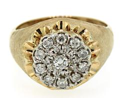 Gents Classic Diamond Cluster Ring