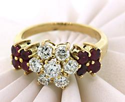 Spectacular Ruby & Diamond Ring in 18K