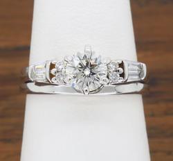 14K White Gold Diamond Ring, .68CTW