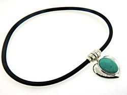 Turquoise Heart Snapt Necklace