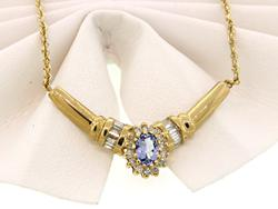 Fancy Tanzanite & Diamond Necklace