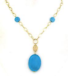 Retro Turquoise Station Necklace