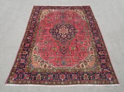 Semi Antique Geometric Persian Tabriz 11.3x7.8