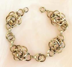 Uniquely Designed, '1/20 12K Gold Filled' Spiraling, Linked Bracelet