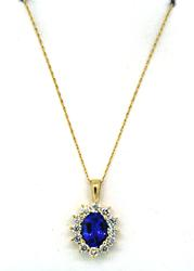 Mesmerizing Tanzanite & Diamond Pendant Necklace