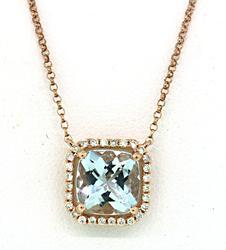 Dazzling Aquamarine & Diamond Necklace