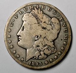 Honest 1895-S Morgan Silver Dollar