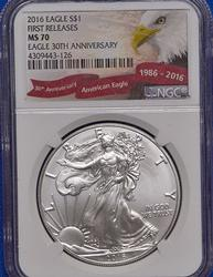 2016 First Release MS70 Silver Eagle, NGC