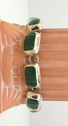 Quality Malachite Bracelet in Sterling