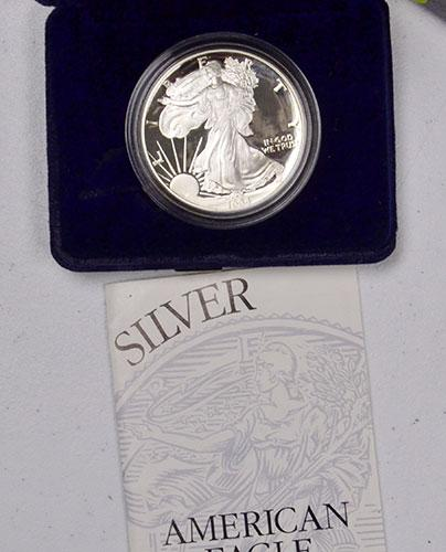Better 1994 Proof American Silver Eagle, OGP