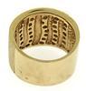 Nice Multi Row Textured Diamond Wide Ring