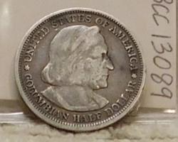 1893 Columbian Commemorative Half Dollar, Silver