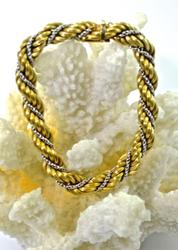 Richly Wrapped 14K Classic Rope Bracelet
