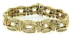 Eye Catching Diamond Baguette Channel Set Bracelet
