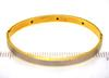 Gold Hinged Bangle with Diamond & Sapphires, 7in