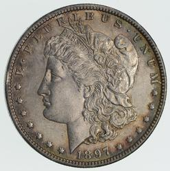 1897-O Morgan Silver Dollar - Not Circulated