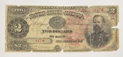 1890 $2.00 A47 STAR Large Size Horseblanket Treasury Note