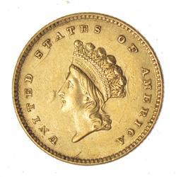 1854 Indian Princess Head Gold Dollar - Circulated