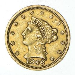 1846 $2.50 Liberty Head Gold Quarter Eagle - Circulated
