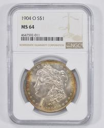 MS64 1904-O Morgan Silver Dollar - NGC Graded