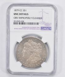 Unc Details 1879-CC Morgan Silver Dollar - NGC Graded