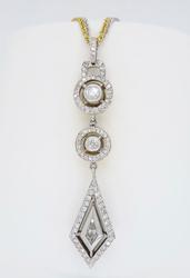Two Tone 18K Gold Diamond Necklace