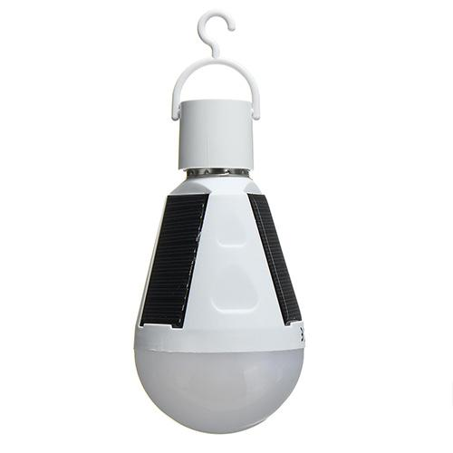 7W 80LM Portable Solar Power LED Bulb Tent Lamp Outdoor