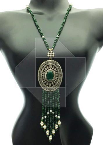 Spectacular Details Antique Design Long Beaded Necklace