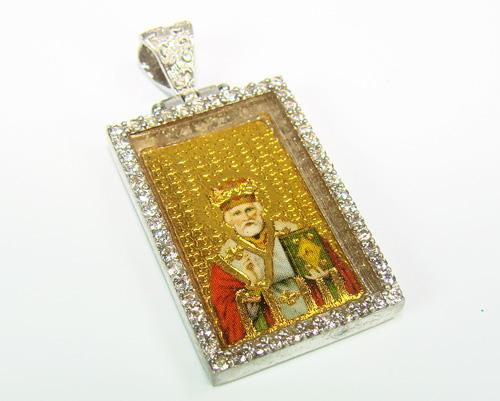 Charming Religious Gold Plated 925 Silver Pendant