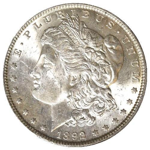 Lustrous BU 1892 Philadelphia  Minted Morgan Silver Dollar!
