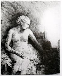 Rembrandt, Woman At The Bath