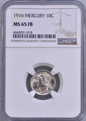 1916 MS65FB Mercury Dime, NGC