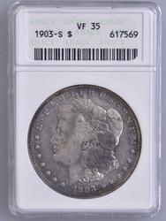 SemiKey 1903-S Morgan Silver Dollar, VF35