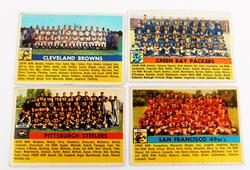 4 Topps 1956 Team Football Cards