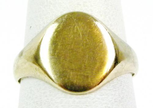 Vintage 10K Signet Ring - No Monogram