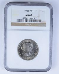 MS67 1980-P Susan B. Anthony Dollar - NGC Graded