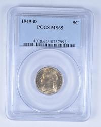 MS65 1949-D Jefferson Nickel - PCGS Graded