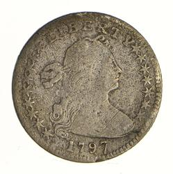 1797 Draped Bust Half Dime - Small Eagle Reverse - 16 ST - Circulated