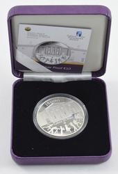 2010 Central Bank of Ireland Silver Proof 10 Euros - With Box & Paper