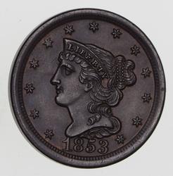 1853 Braided Hair Half Cent - Choice