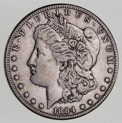 1884-S Morgan Silver Dollar - Circulated