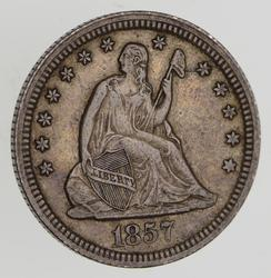 1857 Seated Liberty Quarter - Circulated