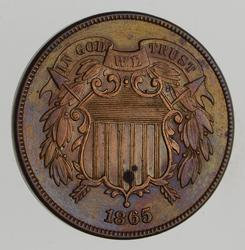 1865 Two-Cent Piece - Choice