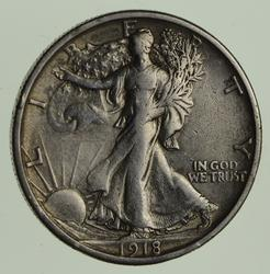 1918-S Walking Liberty Half Dollar - Circulated