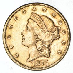 1875-CC $20.00 Liberty Head Gold Double Eagle