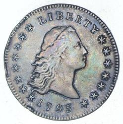 1795 Flowing Hair Silver Dollar - Circulated
