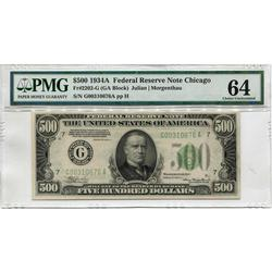 1934A $500 Federal Reserve Note MS64