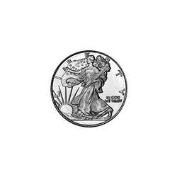 50pc Roll Silver 1/10 oz Walking Liberty Round .999