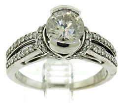 Diamond Ring in 14KT White Gold