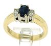 Lovely Blue Sapphire and Diamond Ring